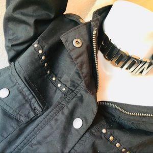 💍 Style & Co Black Military Edgy Style Shirt Coat